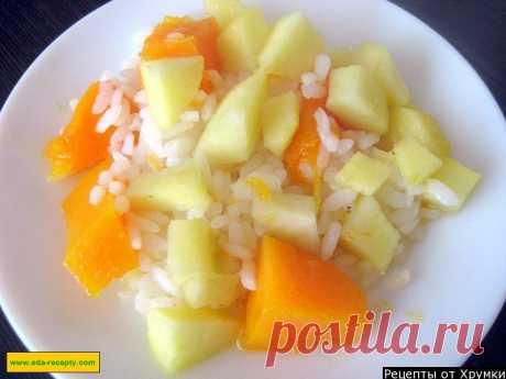 Каша из тыквы с рисом и яблоками на воде рецепт с фото пошагово - 1000.menu
