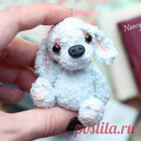 Голубой щенок амигуруми схема игрушки крючком | AmiguRoom