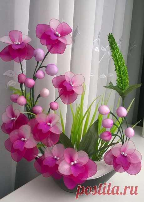 Цветы из капрона: идеи — DIYIdeas