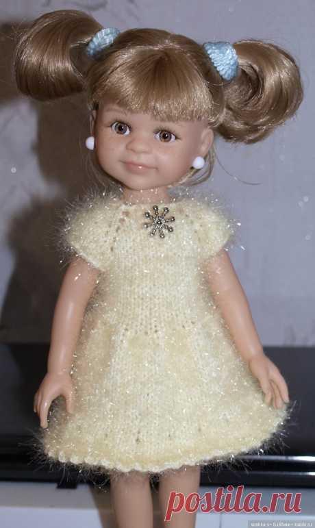 """Описание к платью """"Ёлочки-снежинки"""" / Вязание для кукол / Бэйбики. Куклы фото. Одежда для кукол"""