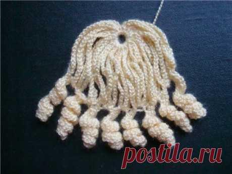 Вязаный парик для куклы Вязаный крючком парика для куклы. Описание