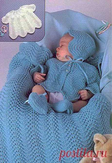 Вязание спицами для новорожденных схемы