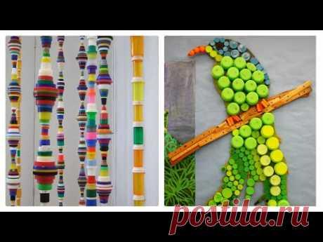 Поделки из крышек, от пластиковых бутылок, идеи