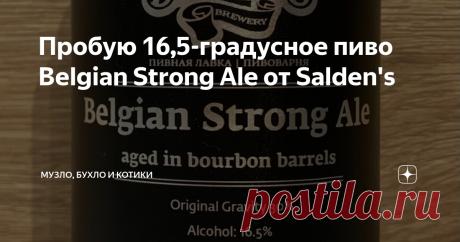 """Пробую 16,5-градусное пиво Belgian Strong Ale от Salden's  Недавно разбирал свою коллекцию """"крепышей"""" и наткнулся на две черные банки Belgian Strong Ale (Бельгийский Крепкий Эль) от тульской пивоварни Salden's, выпущенные еще в 2020 году. Стоил он 270 рублей, на уровне с другими их крепкими сортами. А вот крепость этого эля очень серьезная для пива - 16,5%! Такие напитки даже не каждый магазин может продавать, так как на весь алкоголь крепче 15% нужна отдельная лицензия.  ..."""
