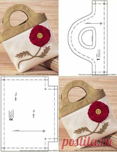 Моделирование вместительных сумочек из ткани — DIYIdeas