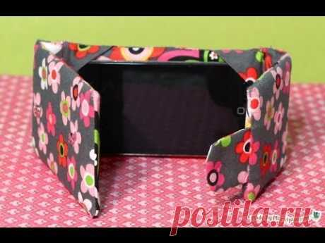 Sew an iPod Touch / iPhone Case Stand This combo Case / Stand is lightly padded to protect your device, snaps shut like a wallet, and stands up on its own. Measurements included for iPod Touch, w...