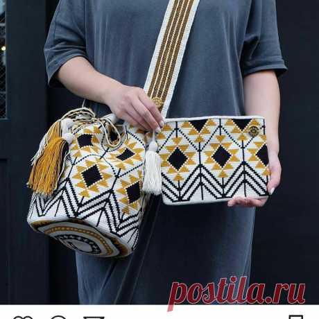 Цікаві ідеї сумок з орнаментами та схеми до них