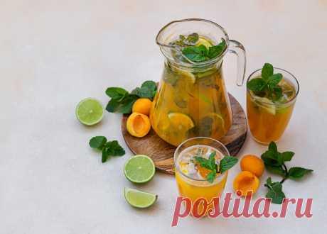 Абрикосовый «мохито»: пошаговый рецепт с фото   Меню недели