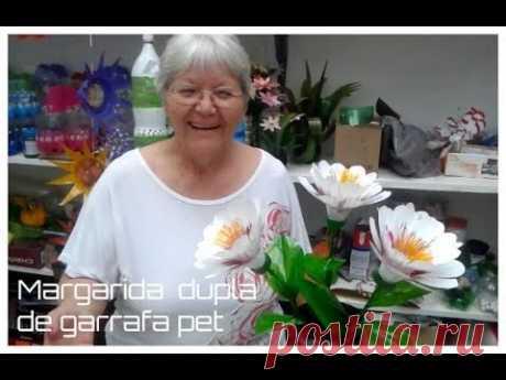Margarida dupla de garrafa pet   Vó Neide e suas pets