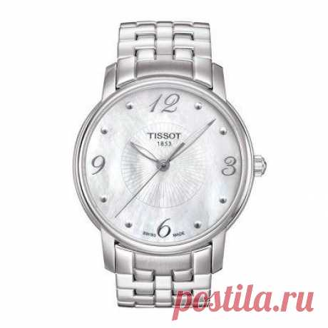 Часы Tissot Lady Round Mother of Pearl Dial Stainless Steel Ladies Watch T0522101111700 / 1034097