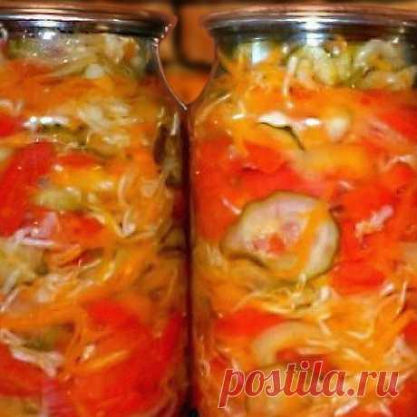 3 рецепта салата ассорти на зиму