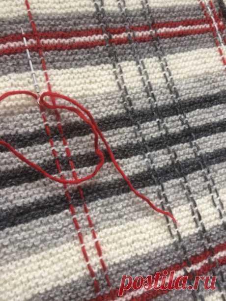 Шотландская клетка - вязание+игла - МАСТЕР-КЛАСС и образцы сочетания цветов