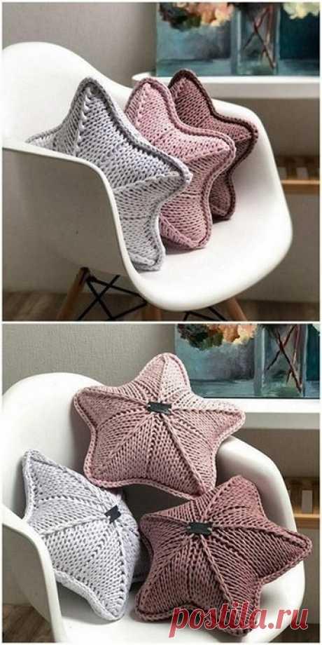 Вязание подушки