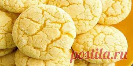 Нежное лимонное печенье на кефире. Просто тает во рту. Максимум вкуса и минимум ингредиентов