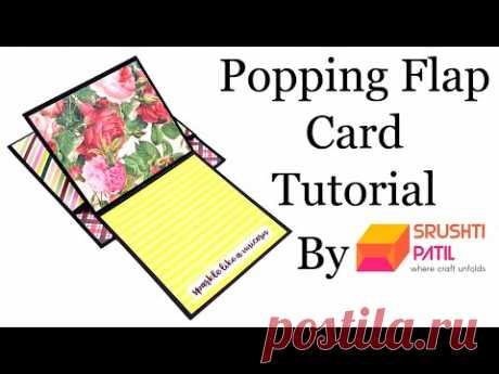 Popping Flap Card Tutorial By Srushti Patil | Scrapbook Card