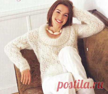 Роскошный мохеровый пуловер.