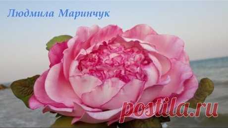 МК Пионовидная роза из иранского фоамирана! Rose from the Iranian fameirana!