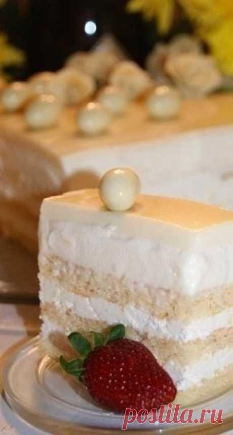 Как приготовить торт опера в белом - рецепт, ингридиенты и фотографии