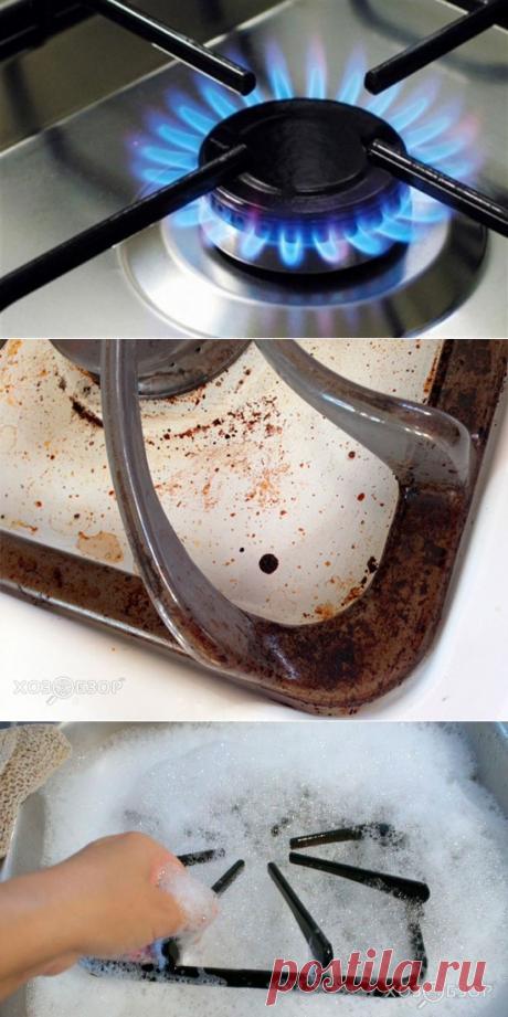 Как очистить решетку газовой плиты — Делимся советами