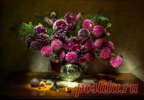 «Натюрморт- цветы » — карточка от пользователя Валентина в Яндекс.Коллекциях
