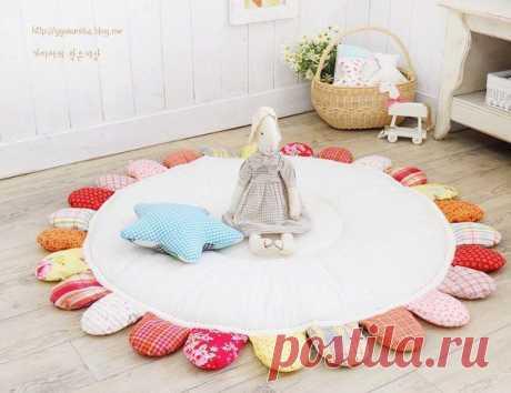 Шьем коврик для малышей в детскую. Мастер-класс.
