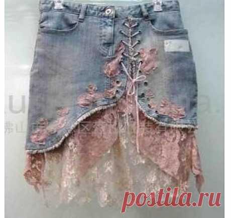 Сарафаны из джинсовых брюк .