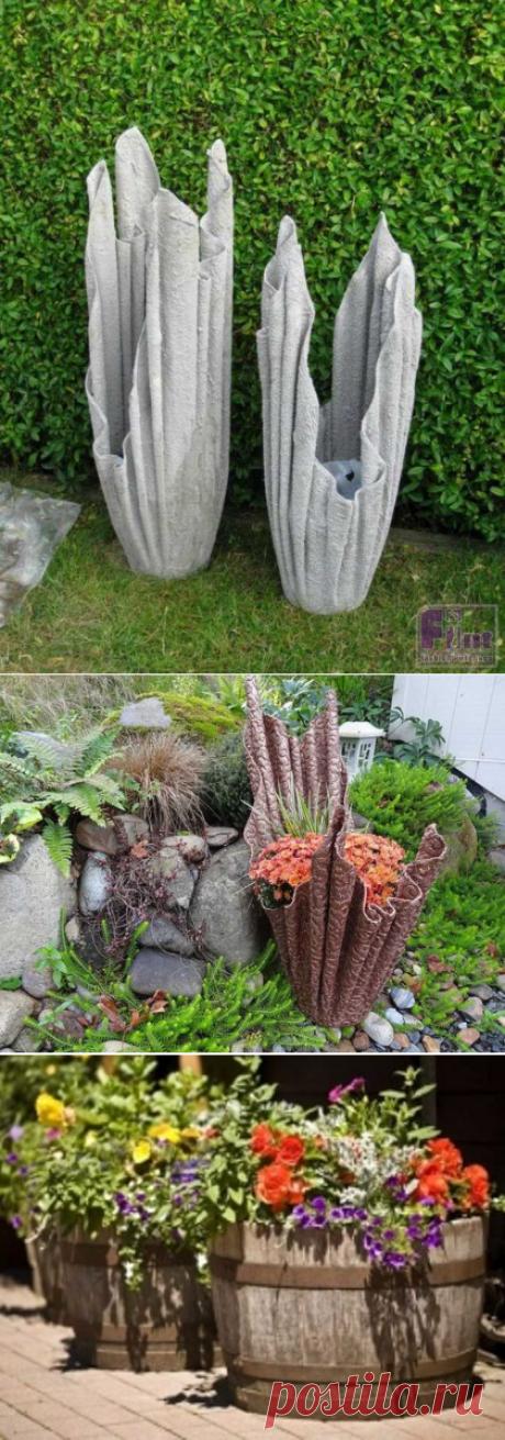 Вазоны для цветов из ткани своими руками
