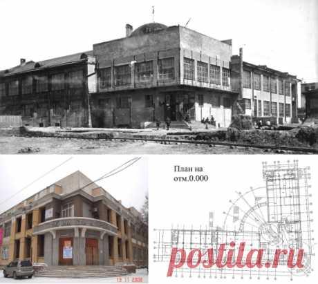 """Novosibirsk, la calle Eltsovsky, la casa № 5 DK por ello. De Kirov\u000d\u000a\u000d\u000aEn Novosibirsk hasta hay un edificio (ahora – la Casa de la cultura nacional por ello. G.Zavolokina), proyectado y construido en 1930х los años, cerca de que los ejes del plan están situados bajo la esquina, sólo pocos 90 grados menores (aproximadamente 86), así que es más lógico llamarlo \""""la casa-boomerang\"""""""