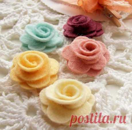 Как сшить розу, букет роз из ткани, фетра? Выкройки розы, МК, фото?