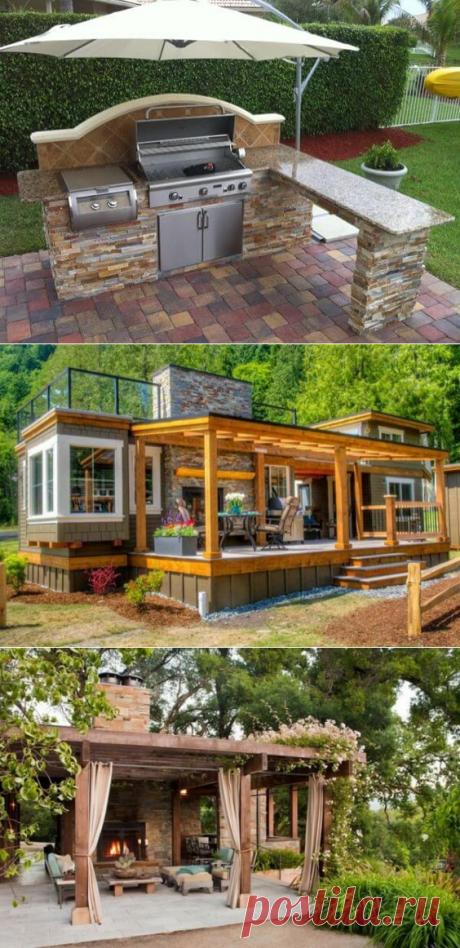 Приусадебные постройки: гостевые дома, гаражи, веранды, бассейны, площадки для отдыха | Тысяча и одна идея