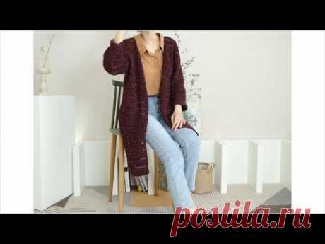 (코바늘 가디건 뜨기)crochet Cardigan/샤샤 가디건(간절기)뜨기/실과 도안은 뜰래아 카페로/by tteurraea