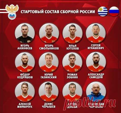 Уругвай — Россия 3:0- онлайн-трансляция матча ЧМ-2018. Видео