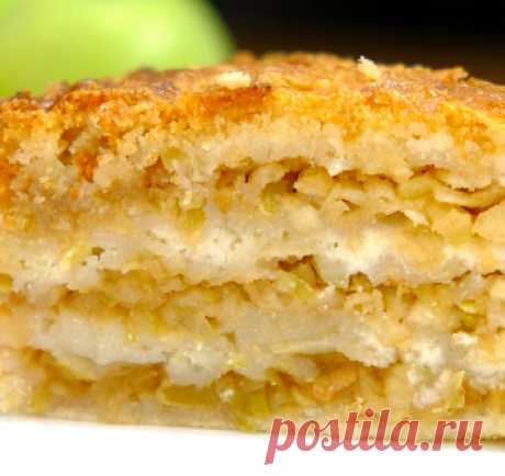 Яблочный насыпной пирог «Три стакана» / Видео-рецепты / TVCook: пошаговые рецепты с фото
