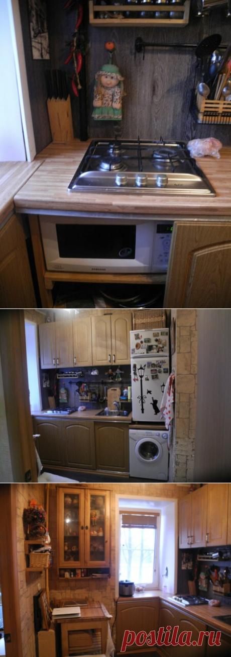 """""""Ничего себе куда холодильник закинули!"""" — или чудеса эквилибристики в мире расстановки кухонной техники в 5 метровой хрущевке"""