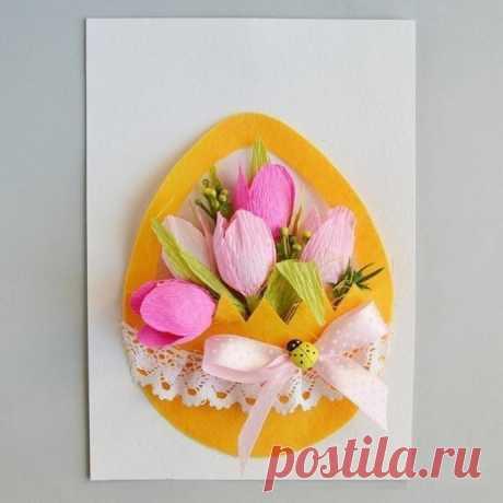 Нежная открытка с конфетками
