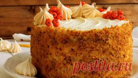 Морковный торт *Краски осени* | ПРОСТОРЕЦЕПТ | Яндекс Дзен