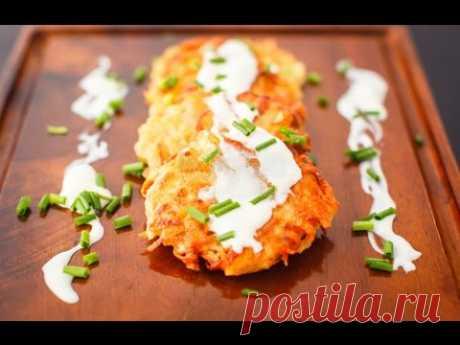 Картофельные драники с творогом по-украински / Potato Pancakes Recipe - YouTube