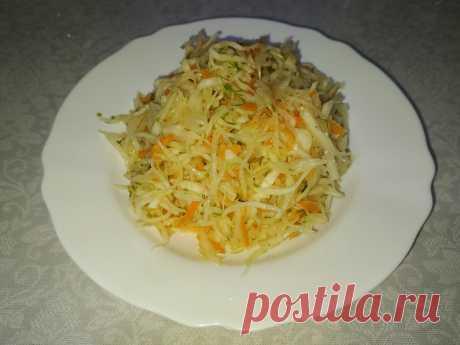 Хрустящий салат из свежей капусты как в столовой | Poperchi | Яндекс Дзен