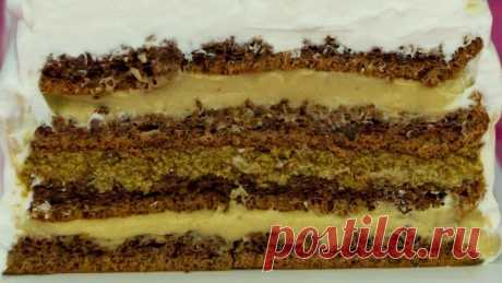 Чарующий аромат кофе! Ореховый торт с кремом на основе кофе и капучино - эт