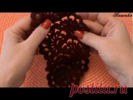Вязание ажурной ленты ВЕЕРА - запись пользователя Вишенка (Елена) в сообществе Вязание крючком в категории Вязание крючком для начинающих