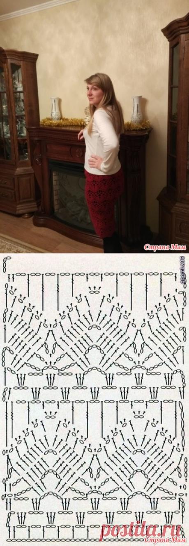 Ажурная юбка крючком - Вязание - Страна Мам