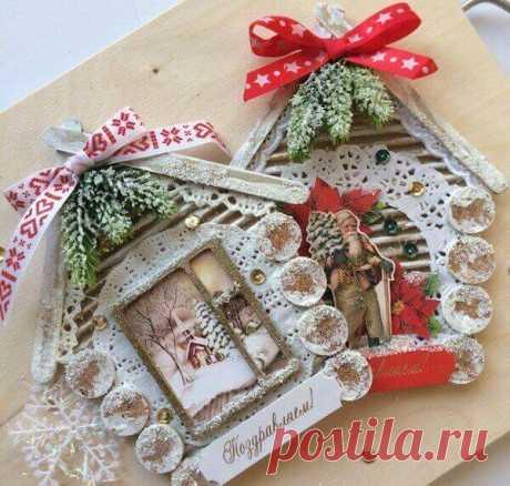 Новогодние открытки своими руками, идеи на Новый год с шаблонами и схемами для детей из бумаги и картона и подручного материала