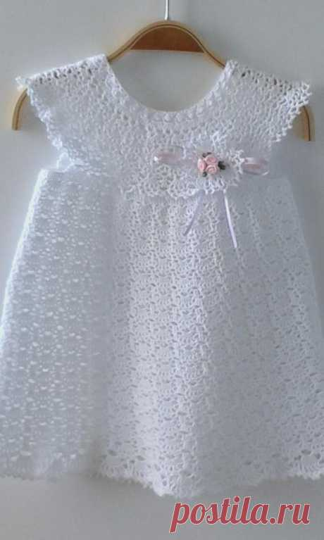 Christening Gown Baby Dress Crochet Dress Baptism Dress   Etsy Dreamlike and romantic christening gown crocheted by hand from pure fine cotton. On the dress is a beautiful Boutonnière (crocheted plug-in flower) attached. It is attached to a transparent push button, which can be easily removed, for example, before washing. The dress fits wonderfully on special