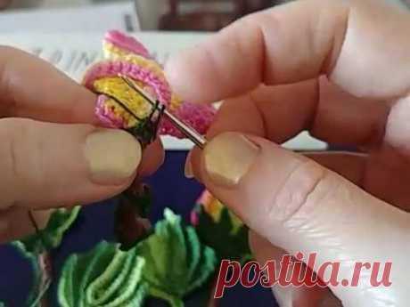Tutorial-3 Rosita. tallo1. La yema розы.3. Стебель1