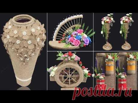 5 Jute craft ideas   Home decorating ideas handmade   #4