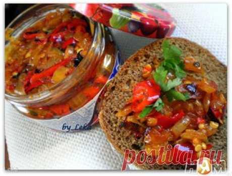 El manjar del ají con la cebolla\u000d\u000a\u000d\u000a¡Esta receta para los gastrónomos y simplemente los aficionados ostrenkogo! \u000d\u000aSe puede comer este manjar untando en hlebushek, se puede añadir en los segundos platos, y bien, y usarlo, como desee;-)\u000d\u000aPor ejemplo en el trozo del pan de centeno poner perchik con la cebolla, y de arriba el trozo de la grasa o la carne, mmm vkusnota \u000d\u000a\u000d\u000aLa receta http:\/\/nyam.ru\/recipes\/zapravki-sousy-marinady\/k-myas.