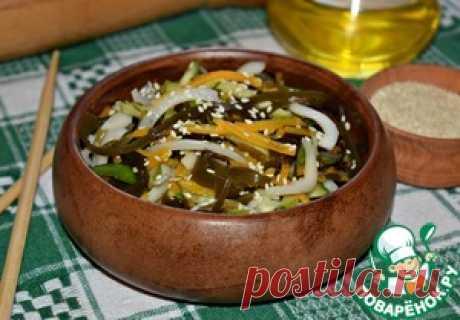 Салат из морской капусты с кальмарами - кулинарный рецепт