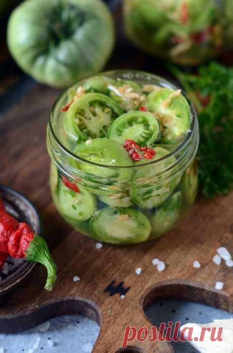 Маринованные зелёные помидоры с перцем и чесноком рецепт с фото пошагово Маринованные зелёные помидоры с перцем и чесноком - пошаговый кулинарный рецепт приготовления с фото, шаг за шагом.