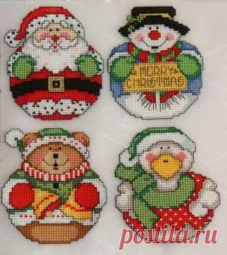 Новогодние схемы вышивки крестом: идеи праздничных мотивов