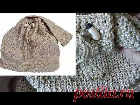 Как связать сумку крючком с готовым донышком?